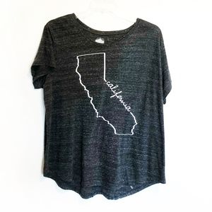 State of Mine Tops - CALIFORNIA State Plus Size 2X Graphic Tee Shirt